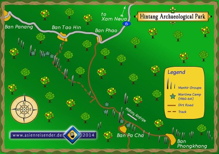 Map of Hintang Archaeological Landscape / Park