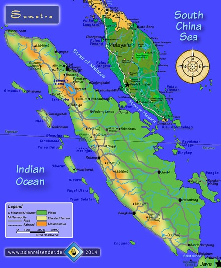 Interactive Map of Sumatra